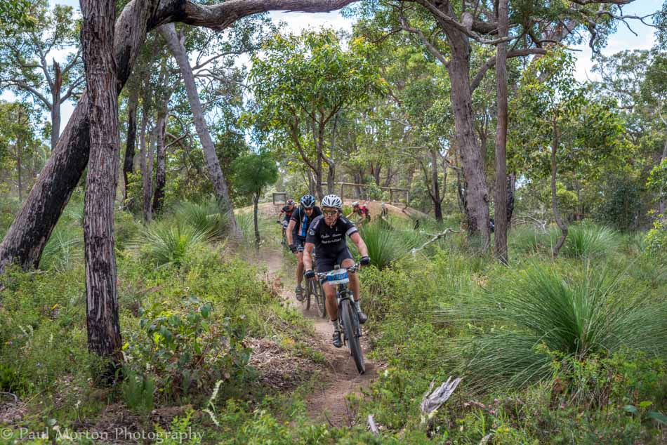 Find the Fun MTB riders on Brown Street at Dunsborough